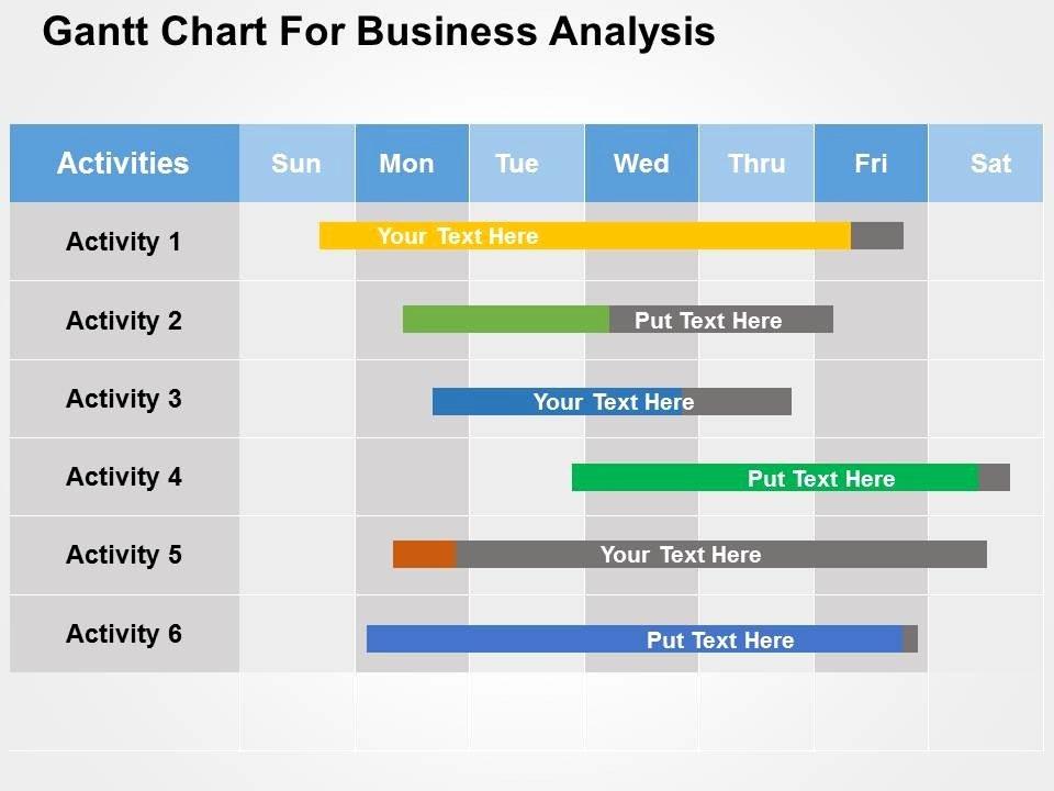 Gantt Chart Powerpoint Template Luxury Gantt Chart for Business Analysis Flat Powerpoint Design