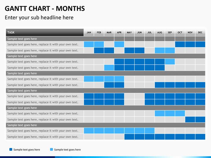Gantt Chart Template Powerpoint Inspirational Gantt Chart Powerpoint Template