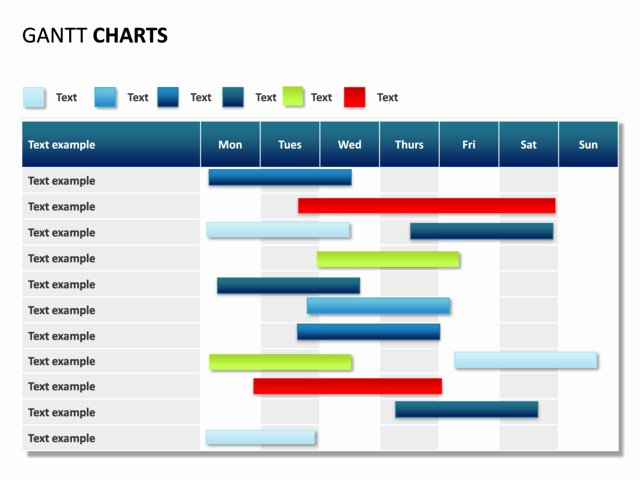 Gantt Chart Template Powerpoint Inspirational Powerpoint Slide Gantt Chart 7 Days 11 Rows P31 3