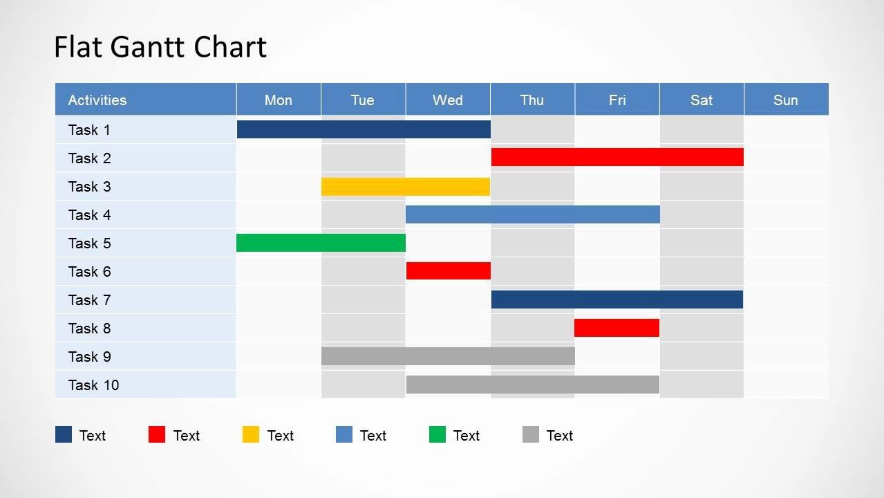 Gantt Chart Template Powerpoint Lovely Simple Gantt Chart Powerpoint Template Slidemodel