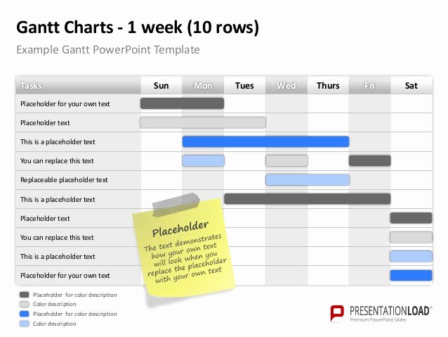 Gantt Chart Template Powerpoint New Powerpoint Gantt Charts Template