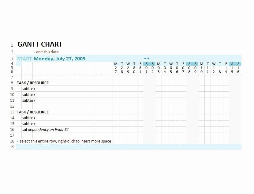 Gantt Chart Template Word Beautiful 37 Free Gantt Chart Templates Excel Powerpoint Word