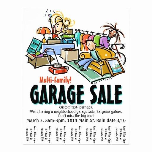 Garage Sale Flyer Template Awesome Garage Sale Moving Sale Yard Sale Custom Flyer