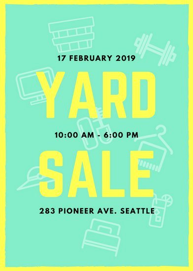 Garage Sale Flyer Template Awesome Mint Green and Yellow Yard Sale Flyer Templates by Canva