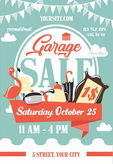 Garage Sale Flyer Template Beautiful Free Psd Flyer Templates for Party event Business