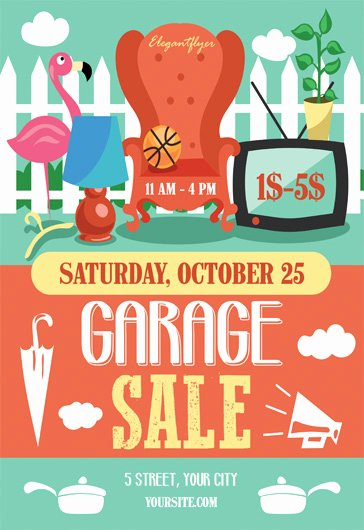 garage sale flyer psd template cover 3