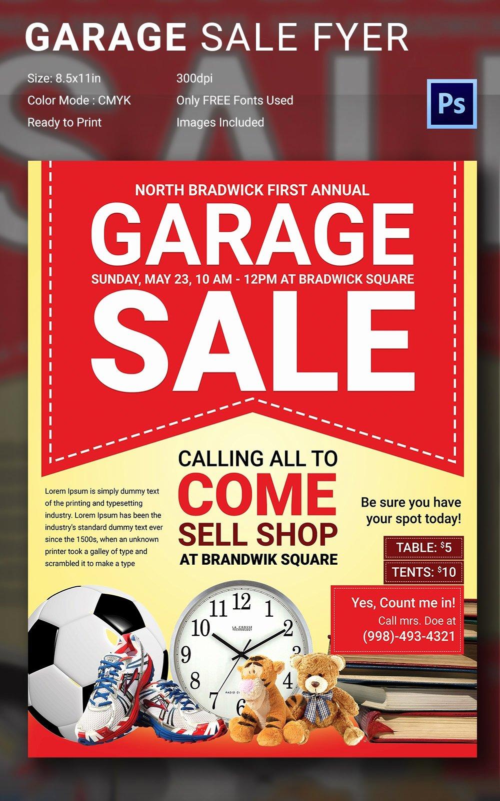 Garage Sale Flyer Template Fresh 14 Best Yard Sale Flyer Templates & Psd Designs