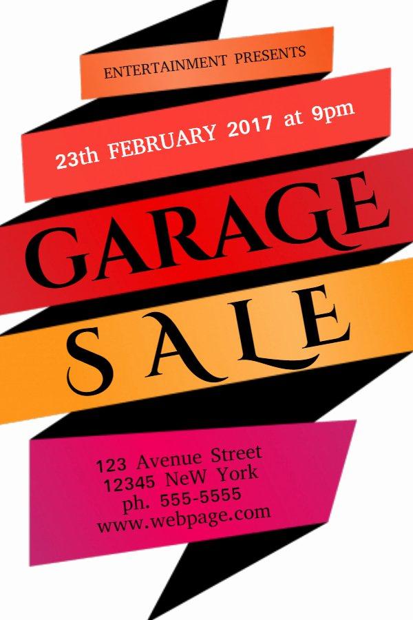 Garage Sale Flyer Template Inspirational New Flyer Templates for Spring & Garage Sales