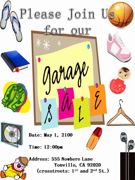 Garage Sale Flyer Template Lovely 15 Free Yard Sale Flyers Great Help Demplates