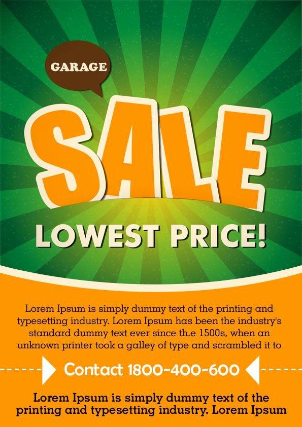 Garage Sale Flyer Template Lovely Free Printable Garage Sale Flyers Templates attract More