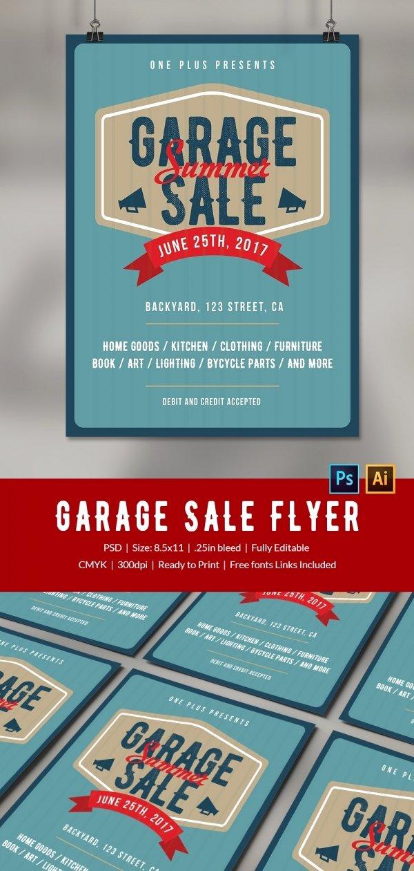 Garage Sale Flyer Template Luxury 14 Best Yard Sale Flyer Templates & Psd Designs