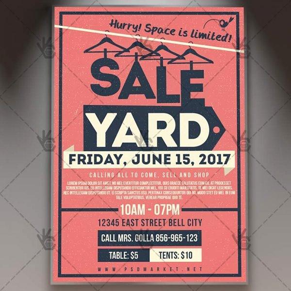 Garage Sale Flyer Template Luxury Yard Garage Sale Premium Flyer Psd Template