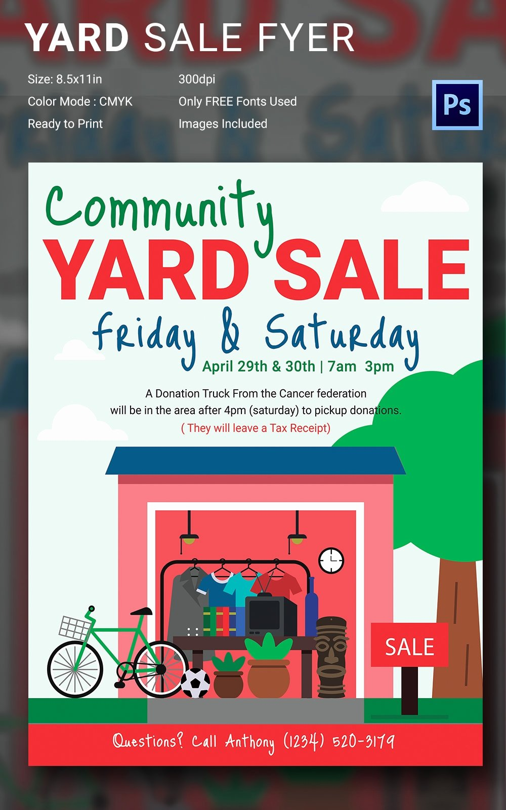 Garage Sale Flyer Template New 14 Best Yard Sale Flyer Templates & Psd Designs