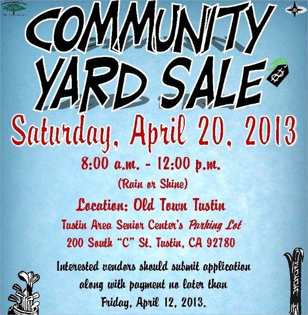 Garage Sale Flyer Template Unique 27 Yard Sale Flyer Templates