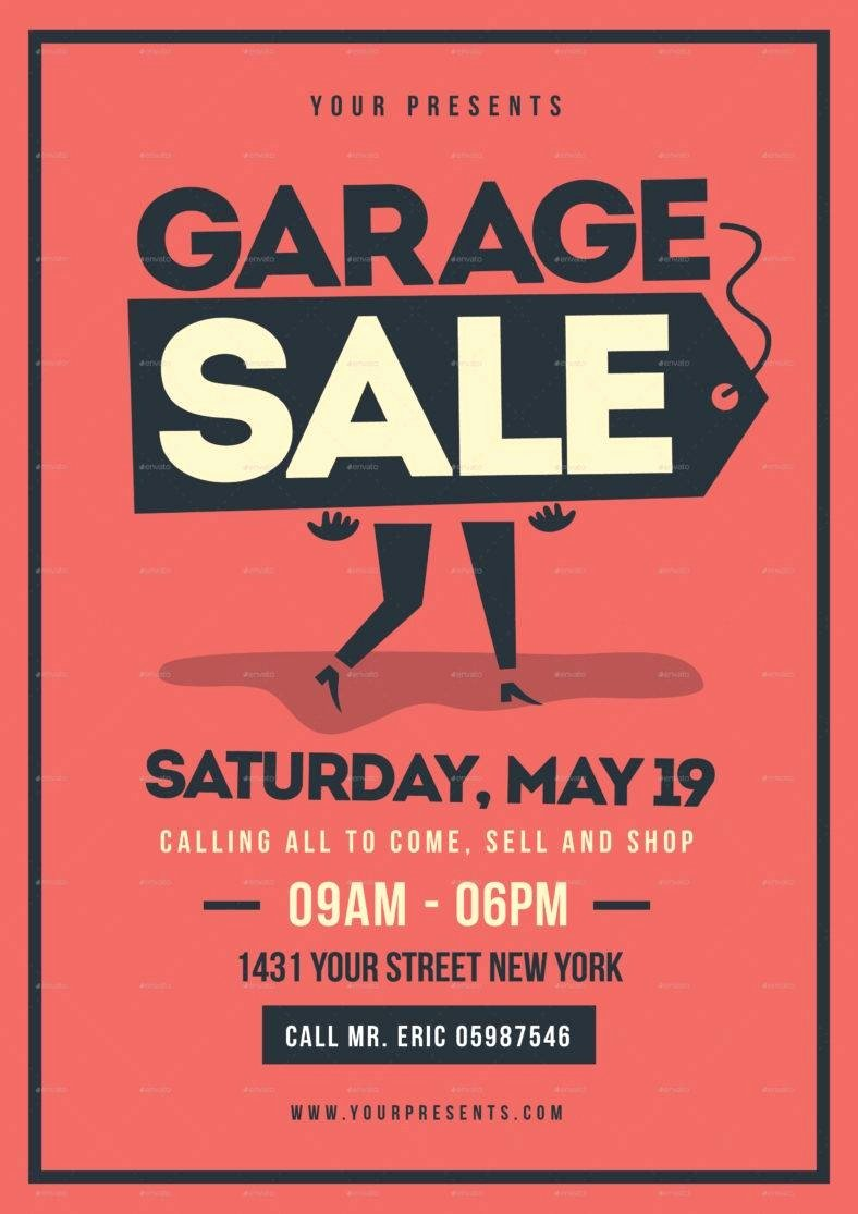 Garage Sale Sign Template Awesome 14 Garage Sale Flyer Designs & Templates Psd Ai