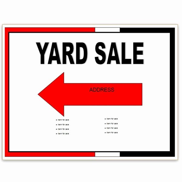 Garage Sale Sign Template Awesome Find Free Flyer Templates for Word 10 Excellent Options