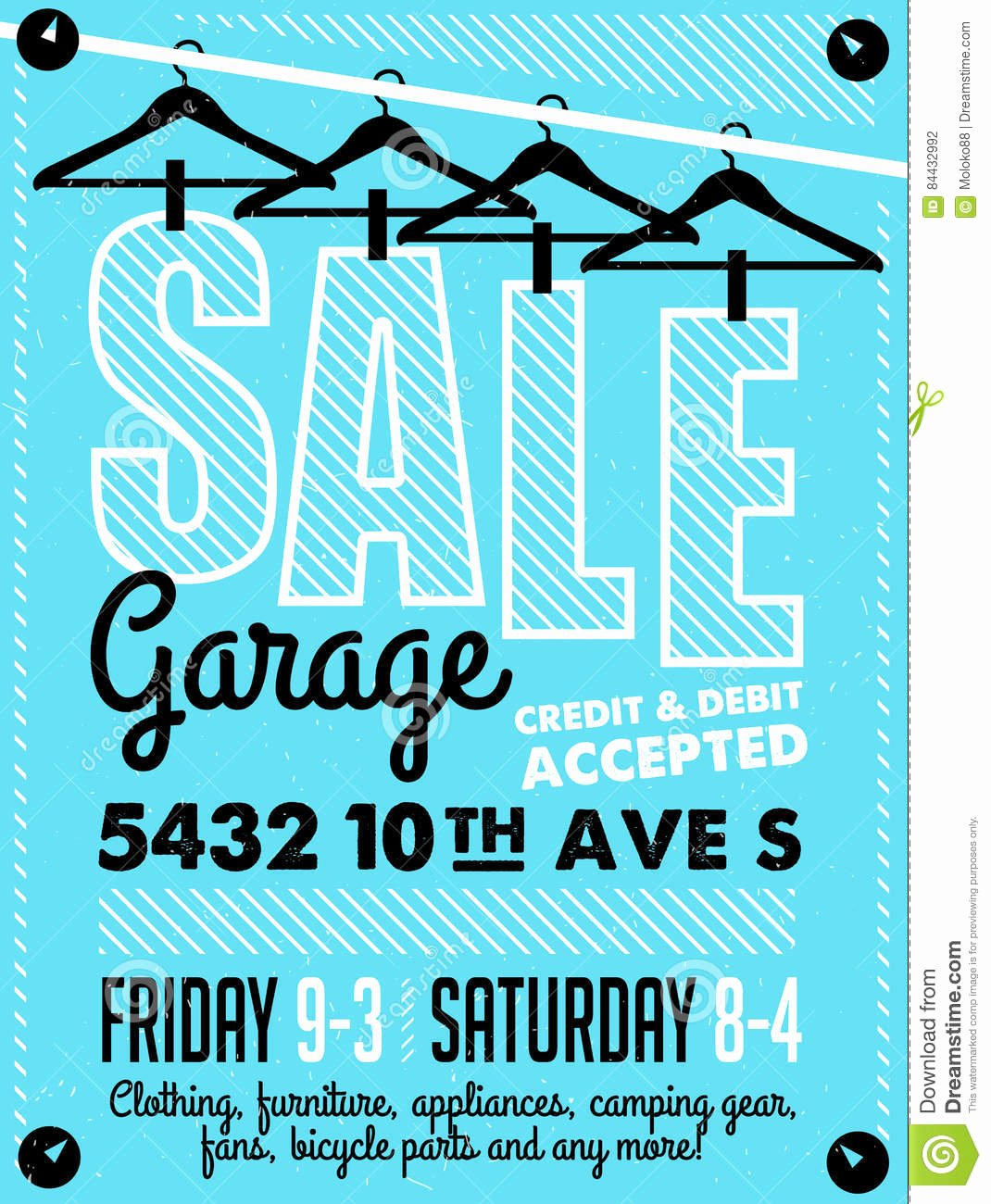 Garage Sale Sign Template Awesome Garage Sale Poster Vector Illustration