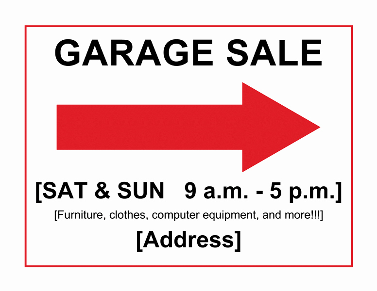 Garage Sale Sign Template Beautiful Download Sale Its A Free Flyer Templates for Microsoft