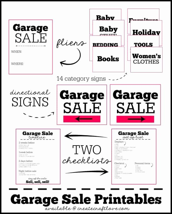 Garage Sale Sign Template Beautiful Garage Sale Printables