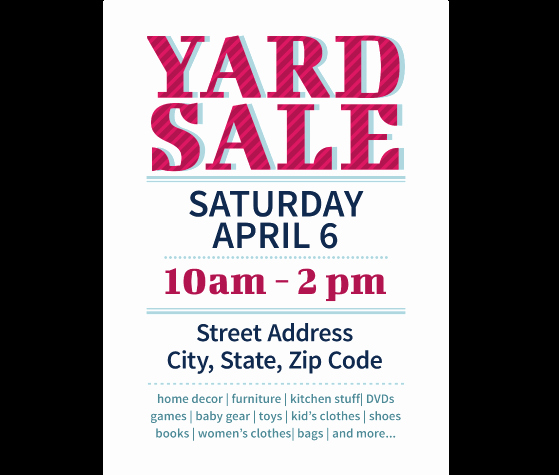 Garage Sale Sign Template Best Of Download This Yard Sale Flyer Template and Other Free