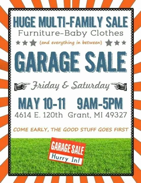 Garage Sale Sign Template Elegant 16 Best Images About Garage Sale On Pinterest