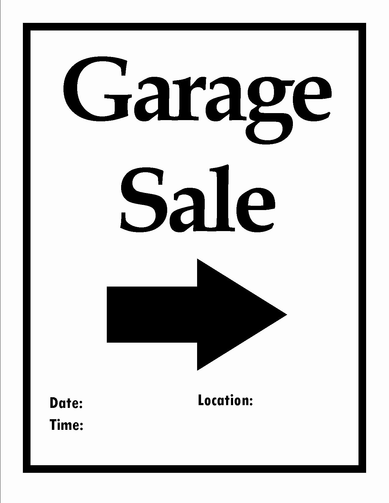 Garage Sale Sign Template Elegant Printable Items to organize Your Next Move