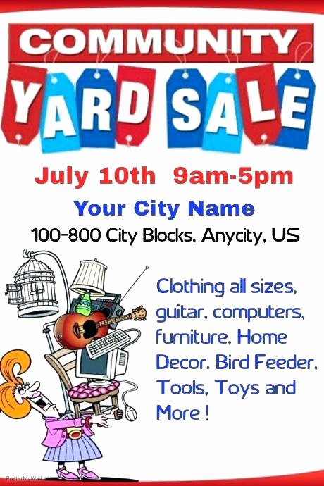 Garage Sale Sign Template Inspirational Yard Sale Template Beautiful Munity Garage Flyer Free