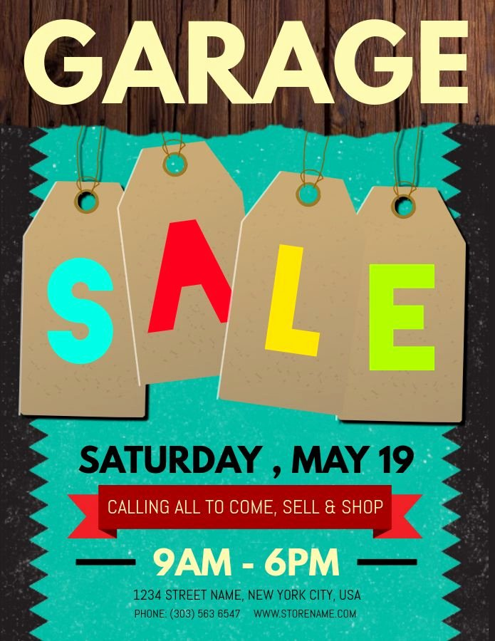 Garage Sale Sign Template New 30 Best Garage Sale Posters Images On Pinterest