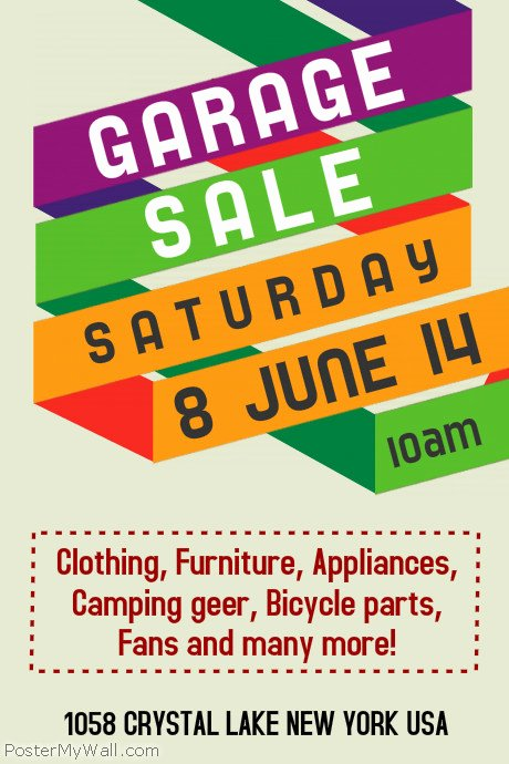 Garage Sale Sign Template New Customize 630 Garage Sale Flyer Templates