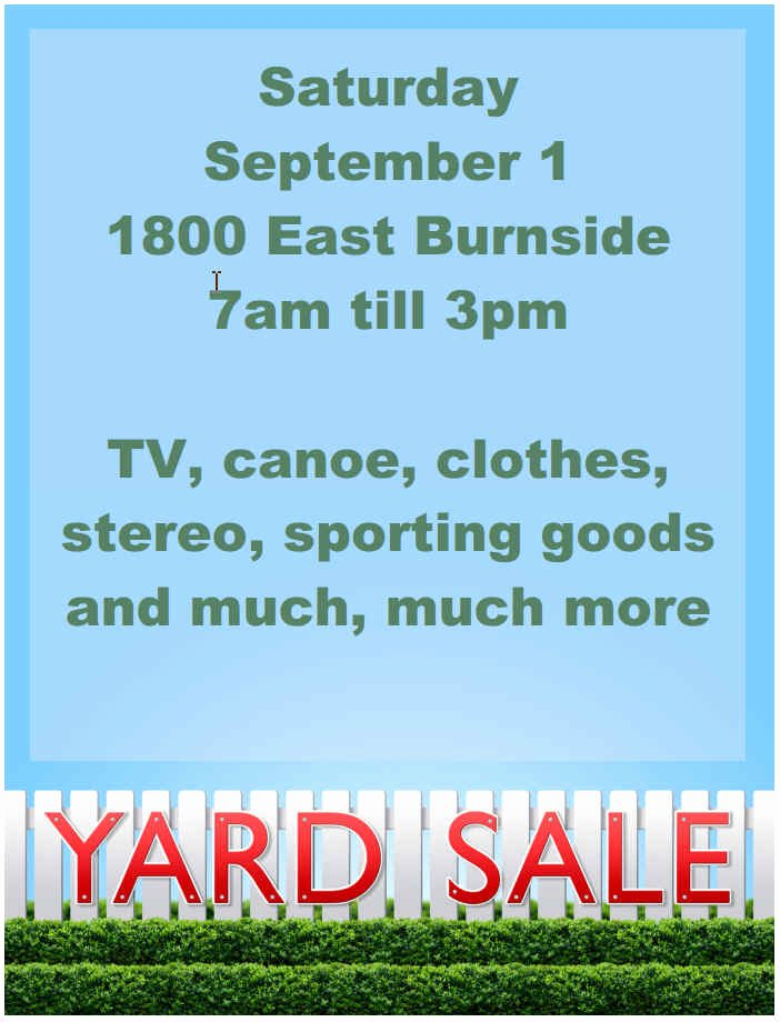 Garage Sale Sign Template Unique 15 Free Yard Sale Flyers Great Help Demplates