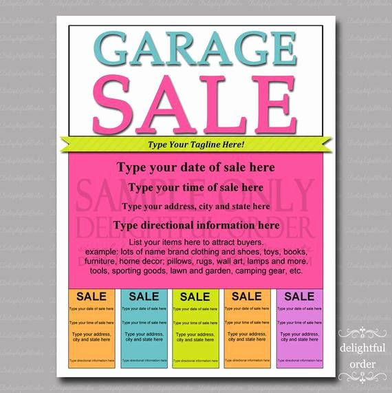 Garage Sale Sign Template Unique Editable and Printable Garage Sale Flyer 1 Pdf File