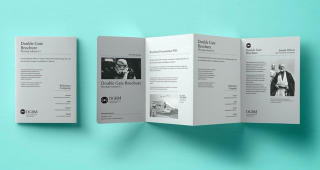 Gate Fold Brochure Template Inspirational Psd Double Gate Fold Brochure Vol2