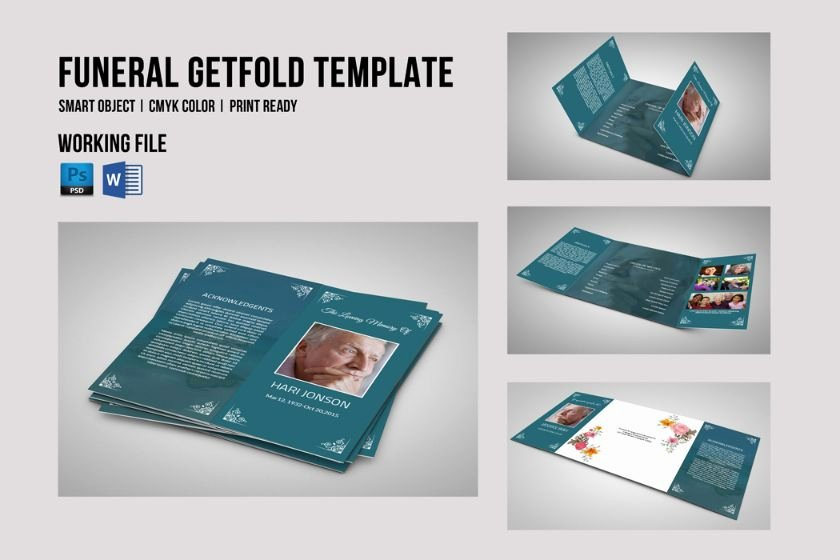 Gate Fold Brochure Template Luxury 20 Funeral Brochure Template Word Indesign and Psd