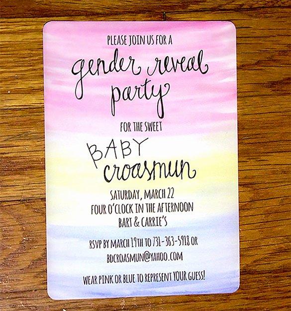 Gender Reveal Invitation Template Elegant Gender Reveal Invitation Template – 34 Free Psd Eps