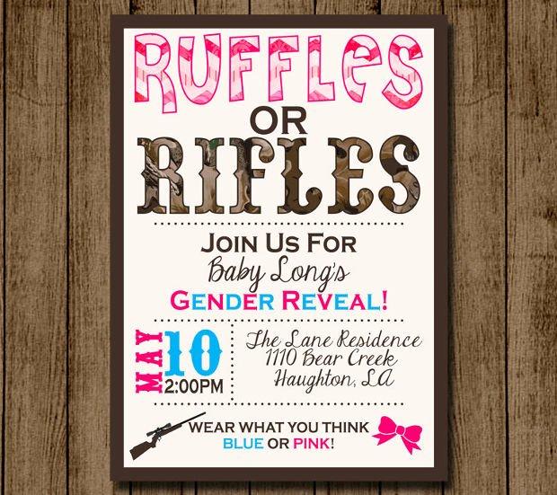 Gender Reveal Invitation Template Lovely 15 Gender Reveal Invitations Printable Psd Ai Eps