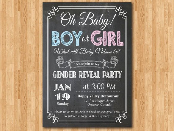Gender Reveal Invitation Template Lovely 35 Gender Reveal Invitation Template