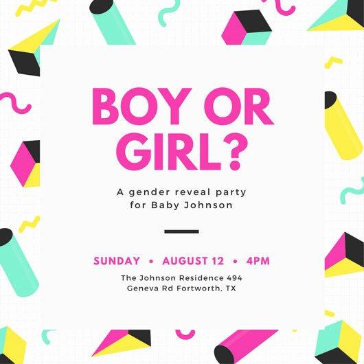 Gender Reveal Invitation Template Unique Customize 29 Gender Reveal Invitation Templates Online