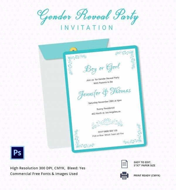 Gender Reveal Invitation Template Unique Gender Reveal Invitation Templates