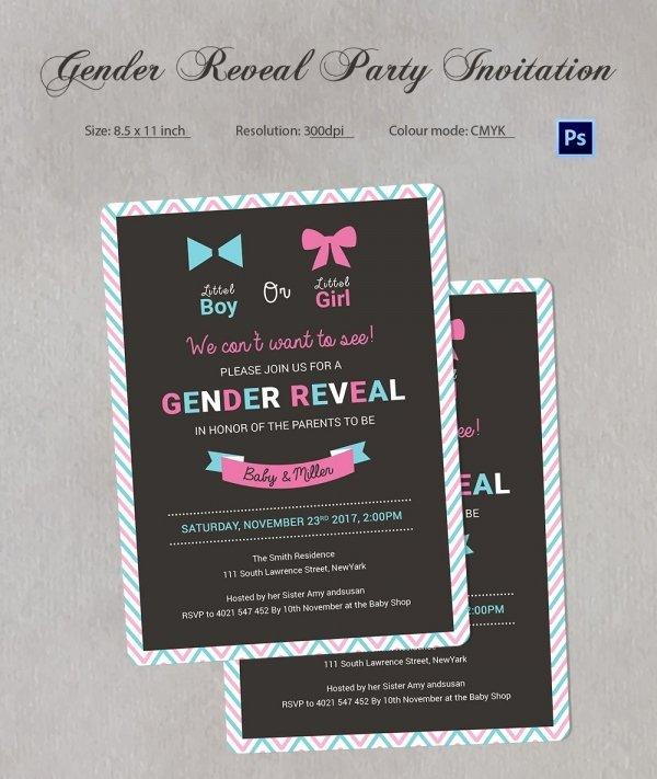 Gender Reveal Invitations Template Beautiful Gender Reveal Invitation Templates