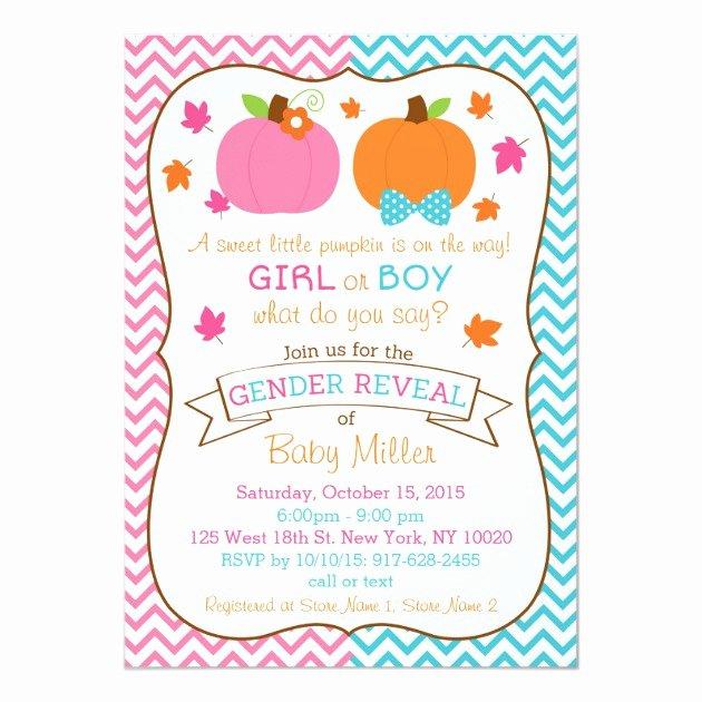 Gender Reveal Invitations Template Beautiful Personalized Gender Reveal Invitations