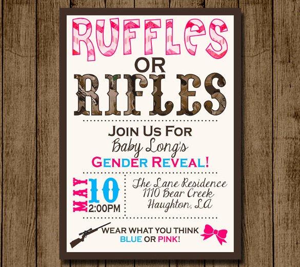 Gender Reveal Invitations Template Elegant 35 Gender Reveal Invitation Template