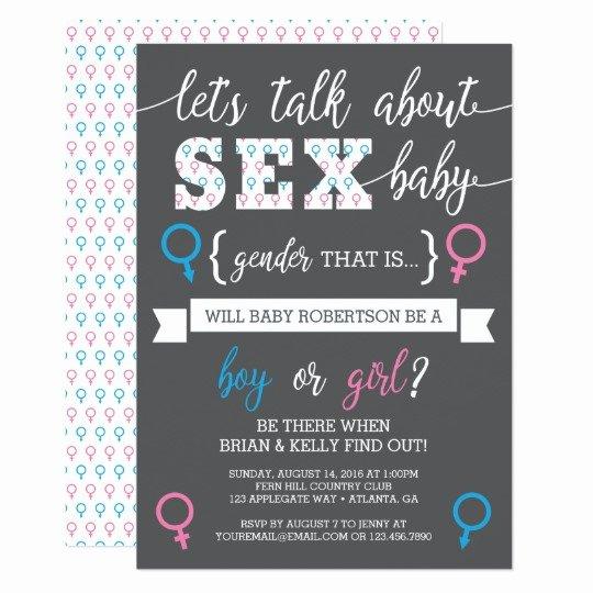 Gender Reveal Invitations Template Elegant Gender Reveal Invitation Let S Talk About Gender Card