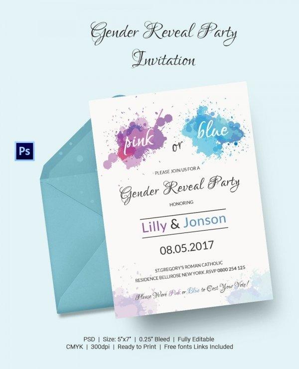 Gender Reveal Invitations Template Luxury Gender Reveal Invitation Templates