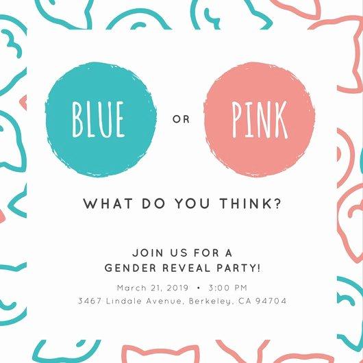 Gender Reveal Invitations Template New Gender Reveal Invitation Templates Negocioblog