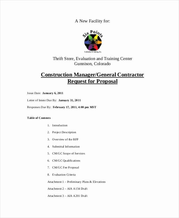 General Contractor Proposal Template Elegant 46 Proposal Samples