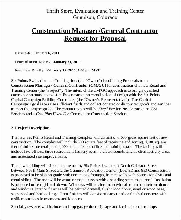 General Contractor Proposal Template Luxury 15 Contractor Proposal Templates Free Word Pdf format