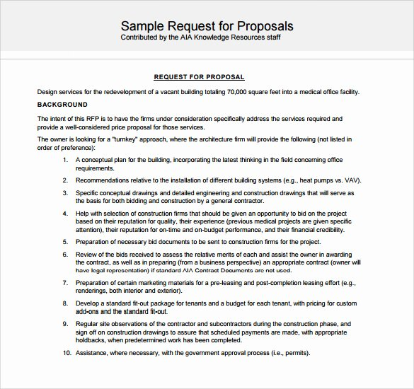 General Contractor Proposal Template Unique Sample Contractor Proposal 13 Documents In Pdf Word