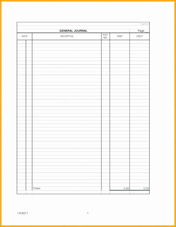 General Journal Template Excel Beautiful Business Ledger Template top Excel Accounting Templates