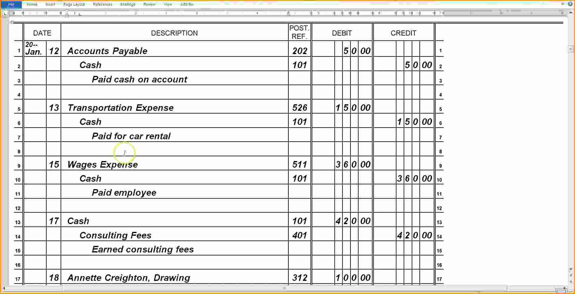 General Journal Template Excel Elegant 28 Of General Journal Template
