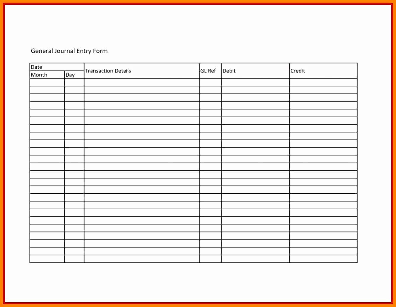 General Journal Template Excel Luxury 8 Payroll Journal Entry Template